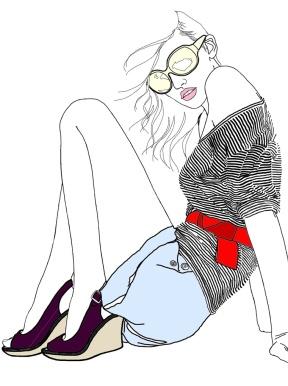 girl-shorts-stripes