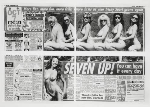 Seven Up 1991 by Sarah Lucas born 1962