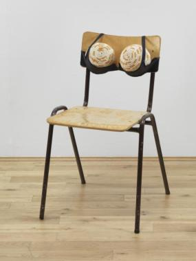 Cigarette Tits [Idealized Smokers Chest II] 1999 by Sarah Lucas born 1962