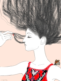 dailyshopwindow-vitrines-créatives-creative-windows-marie-perron-beauté-cheveux